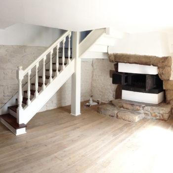 Conception d'un meuble bureau et d'une cheminée – Carnac – Morbihan – Bretagne