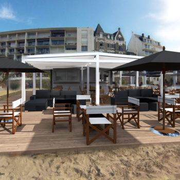 FISHER'S CLUB – Aménagement d'un bar de plage – Carnac et Quiberon- Morbihan – Bretagne