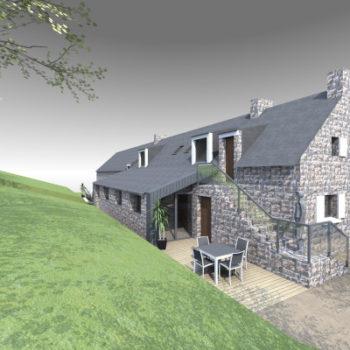 Longère bretonne – Extension et rénovation – Nostang