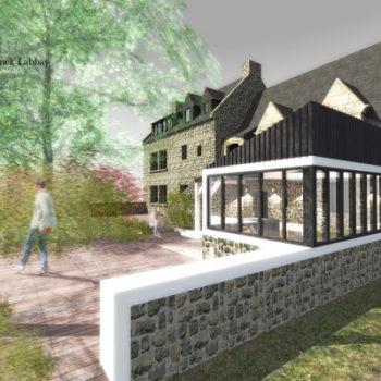 Maison B – Construction d'un préau en bois – Réagencement intérieur et extérieur – Carnac