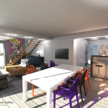 Maison Ca – Réagencement intérieur d'une maison néo bretonne – Saint Gildas de Rhuys