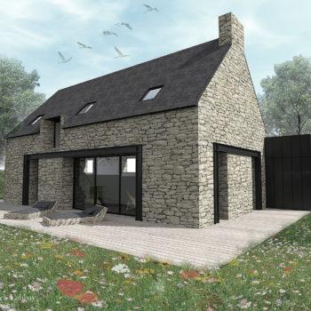 Maison J – Rénovation d'une grange – Plouhinec – Morbihan – Bretagne