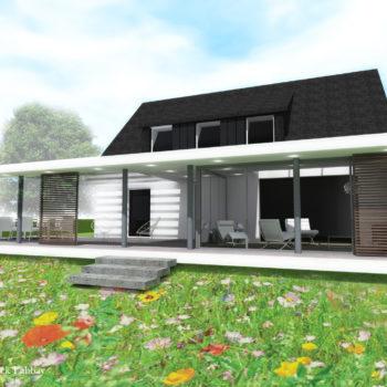 Maison L – Extension d'une maison néobretonne – CLEGUEREC – MORBIHAN – BRETAGNE