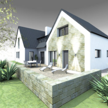 Maison P – Extension et Rénovation sur néo-bretonne – Carnac